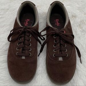Keds Brown Suede Arch Support Sneakers